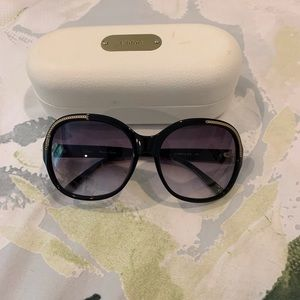 Chloe round sunglasses and hard case